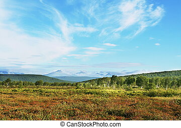 Mountains landscape on Kamchatka