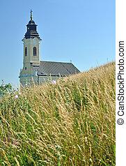 kamenec, velky, kyrka