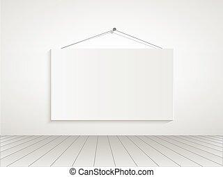 kamer, illustratie, meldingsbord