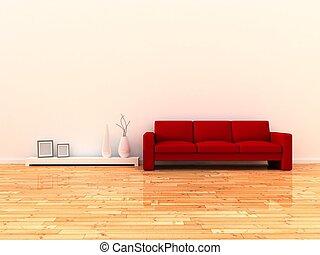 kamer, interieur, moderne
