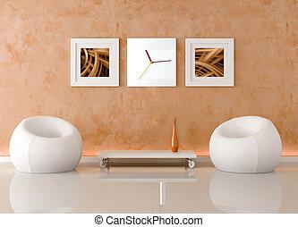 kamer, minimalist, levend
