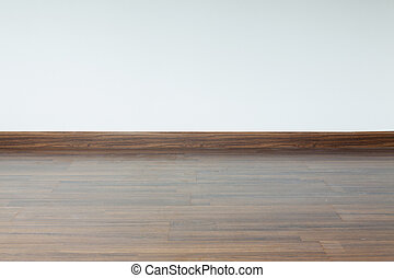 kamer, muur, vijzel, hout, interieur, achtergrond, laminaat, witte , lege