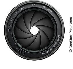 kamera, fönsterlucka