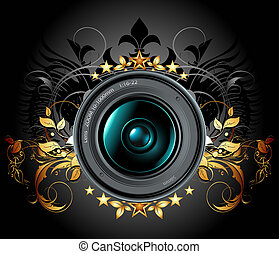 kamera, foto, lins