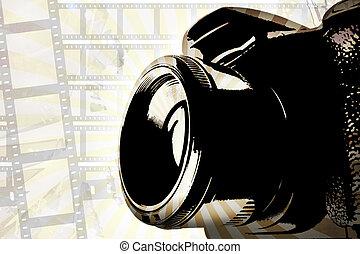 kamera, grafické pozadí