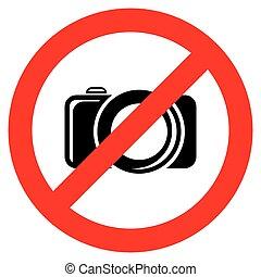 kamera, nej, underteckna