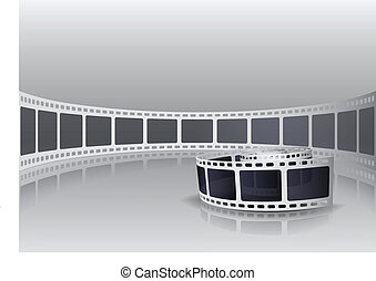 kamera, rulle, film