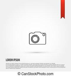 kamera, vector., ikona