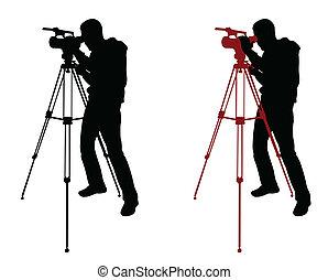 kameraman, silhuett