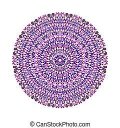 kamień, barwny, próbka, abstrakcyjny, mandala, okrągły okólnik