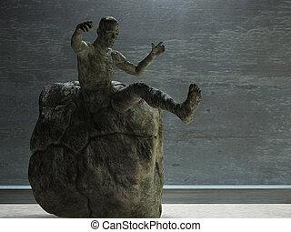 kamień, człowiek
