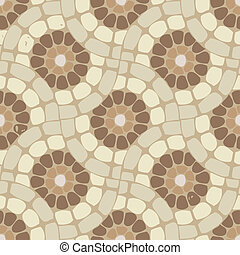 kamień, próbka, podłoga, wektor, tło, dachówka, mozaika