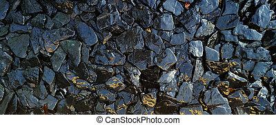 kamień, próbka, struktura, trzęsie się, tło., mokry