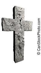 kamień, robiony, krzyż
