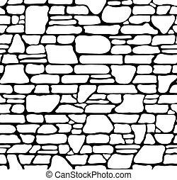 kamień, seamless, struktura