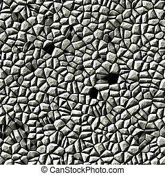 kamień, seamless, struktura, szary