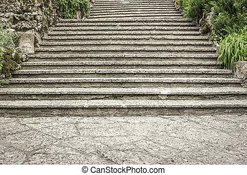 kamień, steps., stary