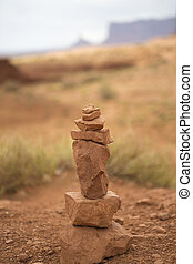 kamienie, kamyki, waga, -, stóg