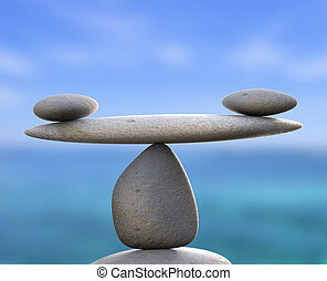 kamienie, równość, zdrowy, wskazuje, spokój, zdrój