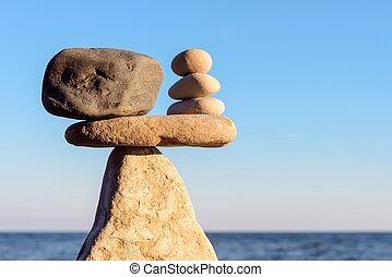 kamienie, waga, zen