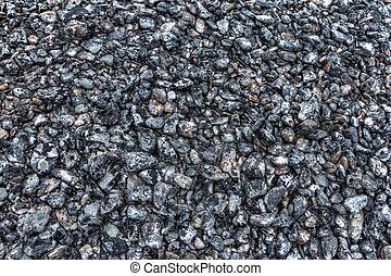 kamienie, z, mech