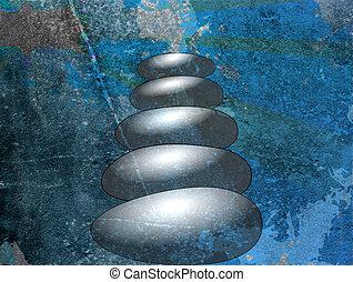 kamienie, zen, tło