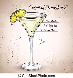 Kamikaze alcohol cocktail