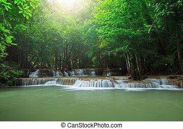 kamin,  hauy, profundo, quedas, água,  mae, floresta, tailandia,  kanchanaburi, ocidental