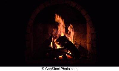 kaminofen, brennt, bleiben warm, feuer