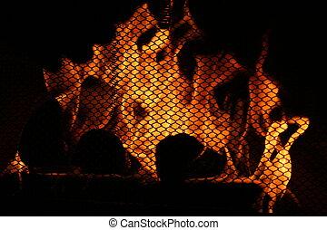 kaminofen, wärme