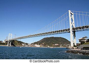 Kammon strait bridge in Japan