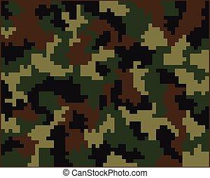 kamouflage, digital, seamless