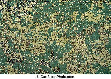 kamouflage, här, struktur, med, synbar, kanfas, mönster