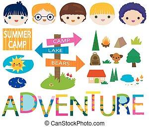 kamp, zomer