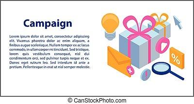 kampania, isometric, styl, chorągiew, pojęcie