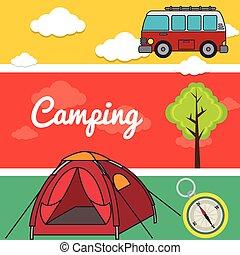 kamperen, buiten