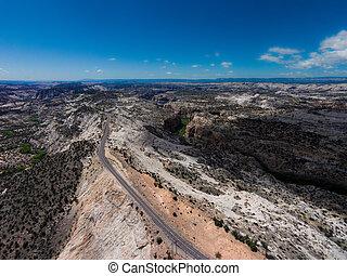 Kampesten, genvej,  12, landskabelig, Rute,  Utah,  hogback,  escalante