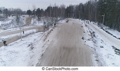 kampioenschap, season., winter, januari, 27, snowmobiles, wedloop, 2018, snowmobile