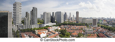 Kampong Glam in Singapore Aerial View Panorama - Kampong...