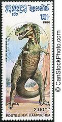 KAMPUCHEA - CIRCA 1986: A stamp printed by Kampuchea shows...