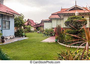 Kampung Morten village in Malacca (Melaka), Malaysia