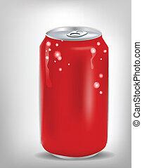 kan, röd, soda