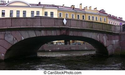 kanał, z, mosty, w, petersburg