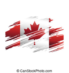 kanada, ślady, bandera, brus, kształt