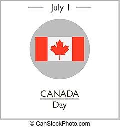 kanada, 1, dag, juli