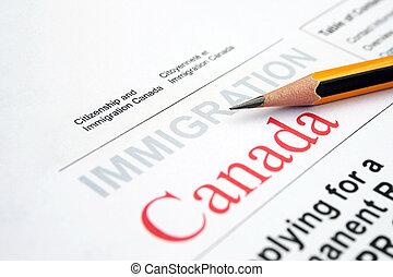 kanada, bevándorlás