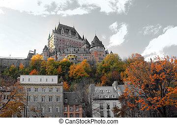 kanada, chateau, quebec stadt