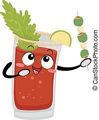 kanada, dricka, caesar, illustration, maskot