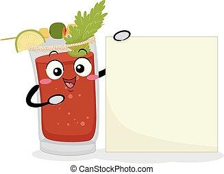 kanada, dricka, illustration, caesar, bord, maskot