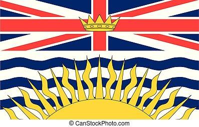 kanada, flag., vektor, kolumbien, britisch